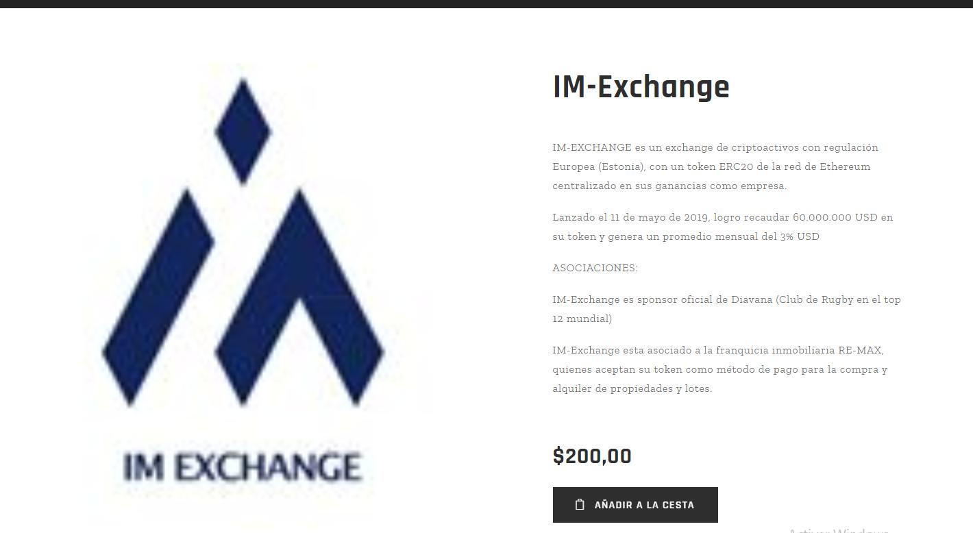 Estafa Criptomonedas Piramidal Estafa Broker Falso Crypto IM Exchange Tradingarg Inmarkets FX 4 1